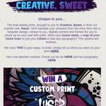 Win 1 of 2 Custom Framed Prints from BurgerFuel