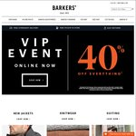 Barkers 2 Days Winter VIP Event - 40% off Everything (Instore and Online)