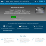 300 bonus Airpoints with ANZ Airpoints Visa Platinum