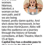 Win a Double Pass to HarleQueen from The Dominion Post (Wellington)