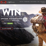 Win 1 of 3 Swisse Adventures Valued at $20,000 Each or 1 of 100 $100 Kathmandu Digital Gift Vouchers from Swisse