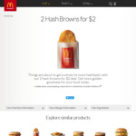 Two Hash Browns for $2.00 @ McDonald's
