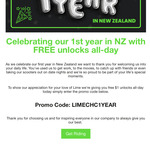 Free Scooter Unlocks Today (15/10) @ Lime (Auckland, Christchurch)
