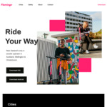 15 Free Minutes on Flamingo Scooters (Unlock Fee Applies)