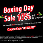Computer Lounge Boxing Day Sale - 10% Off Components