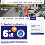 $0.06c off Per Litre + Double Fly Buys @ Z [Today Only] [Fly Buys / Airpoints Required] (Min Spend $40)