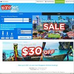 $30 off Singapore Airlines with Promo Code @ Byojet