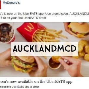 UberEATS Auckland Get $10 off McDonald's with Code