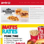 Wendy's Mates Rates: 2 Aioli Chicken Burgers, Value Fries & Value Drink $8.90, Value Frosty $1 + More