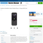 $17 Vodafone MobiWire Sakari Mobile Phone @ Harvey Norman