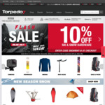 40% off Torpedo7 Brand, 15% off Bikes, 20% off Outdoor Sport at Torpedo7