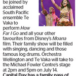Win a Family Pass to See Te Vaka from The Dominion Post (Wellington)