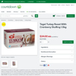 Tegel Turkey Roast with Cranberry Stuffing 1.5kg $34 (Was $44.99) @ Countdown