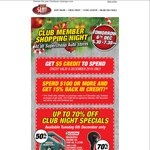 Supercheap Auto $5 Credit (Club Members Only)