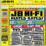 Cost+GST on a Massive Range, 50% off Blu-Ray + More @ JB Hi-Fi