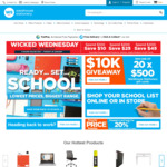 Wicked Wednesday - Spend $100, Save $10; Spend $200, Save $25; Spend $300, Save $45 @ Warehouse Stationery
