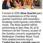 Win a Double Pass to Kiwa Quartet from The Dominion Post (Wellington)