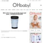 """Win 1 of 3 """"Love You to The Moon and Back"""" CUPPACOFFEECUPS from OHbaby!"""