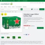 2 for $78 Heineken Lager 330ml Bottles 24pk @ Countdown