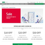 Specsavers - $50 off When You Spend $149 on Contact Lens Plus Free Shipping