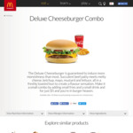 Deluxe Cheeseburger or BBQ Chicken Burger, Small Fries & Small Drink $5 @ McDonald's + More