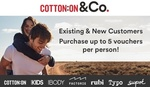 $5 for $30 Credit Online at Cotton on & Co Stores (Minimum $90 Spend) @ Groupon NZ