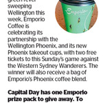 Win 2 Tickets to Phoenix Game + Emporio Coffee Beans from The Dominion Post