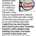 Win Emporio Coffee, Belgian-Style Drinking Chocolate, Chocolate Covered Coffee Beans and Organic Tea from The Dominion Post
