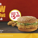 Classic Burger, 2pc Wings, Small Fries & Small Drink $5 @ Texas Chicken
