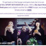 Win 1 of 50 Sky Sport Now 1-Week Pass + 1 Burger from BurgerFuel