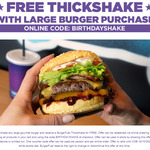 Free Thickshake with Large Burger Purchase @ BurgerFuel