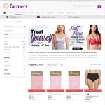 Farmers - 1/2 Price Berlei, Jockey, Lyric, Honey Vegas, Elle Macperson Lingerie Ends Sun 14 Dec