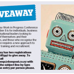 Win 1 of 2 Passes to Work in Progress Conference from The Dominion Post (Wellington)