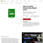 40% off Xbox Live Gold Memberships: $47.97 for 12 Months, $17.97 for 3 Months @ Microsoft