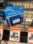 Eneloop Rechargable AAA Batteries $5/2 Pk at Countdown