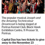 Win 2 Tickets to Joseph and The Amazing Technicolour Dreamcoat from The Dominion Post (Wellington)