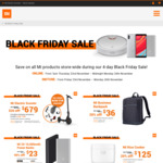 Black Friday (Mi Power Bank 2S 10000mAh $23, Electric Scooter $679 + Bonus Bundle, etc.) @ Mi Store