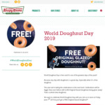 Free Original Glazed Doughnut @ Krispy Kreme (Friday 7/6)