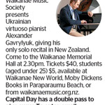 Win a Double Pass to Alexander Gavrylyuk from The Dominion Post (Wellington)