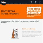 2GB Free Weekend Data for Newly Activated Skinny SIMs