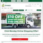 $10 off $100 Spend @ Countdown (Click Monday)