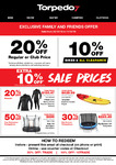 Torpedo 7 Friends and Family Offer (20% off Regular/Club Price & 10% off Bikes & Sale Price)