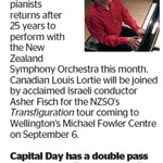 Win a Double Pass to see NZSO's Transfiguration from The Dominion Post (Wellington)