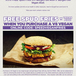 Free Spud Fries When You Purchase a V8 Vegan Burger (or Any Burger) at BurgerFuel