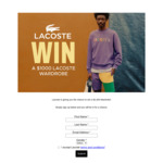 Win a Lacoste Wardrobe (Worth $1000) from Lacoste