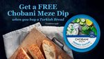 FREE Chobani Meze Dip When You Purchase Any Turkish Breads @ Bakers Delight