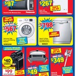 Panasonic 25L Microwave $97, Haier 143L Freezer $262, Samsung 7.5kg FL Washing Machine $567,Sunbeam Elec Fry $45 @ Harvey Norman