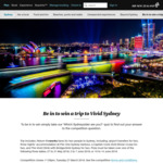 Win a Trip for 2 to Sydney for The Vivid Festival from Air New Zealand