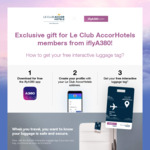 Free Interactive Luggage Tag from iFlyA380 with Le Club AccorHotels