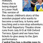Win a Double Pass to Pinocchio from The Dominion Post (Wellington)